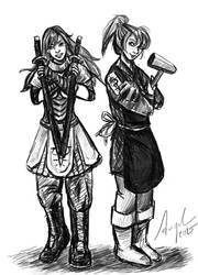 Himaki (Kima) and Yokoe Hira by Hymmitiah