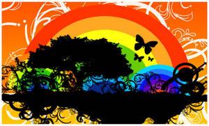 Rainbow Island by Indallion