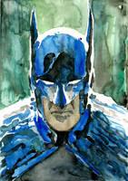 The Dark Knight watercolored by Soposoposopo