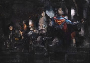 Superhero Nightout by Soposoposopo