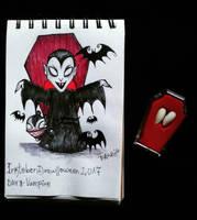 Inktober - Drawlloween / day 8: vampire by Frankienstein