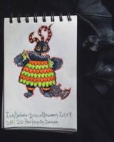 Inktober - Drawlloween / day 20: harlequin demon by Frankienstein