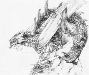 Pencil dragon by grimzzi
