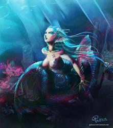 sapphire mermaid by grimzzi