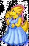 Alphys in a prom dress by Mati0la