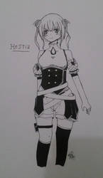 [ INKS ] Original Character - Hestia by cachaTM