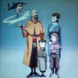 Tenzin and family by Sealana