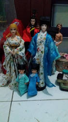 hanfu ken doll and hanfu barbie by seawaterwitch
