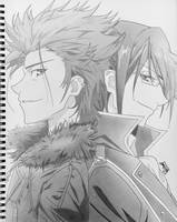 K project : Mikoto and Reisi by step-on-mee