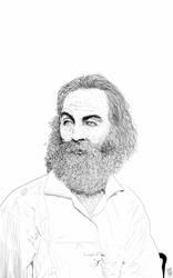 Walt Whitman by WesternWolf777