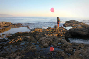 Le Ballon Rose - Reflection by MiniWookie