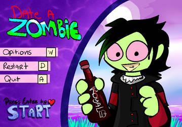 Date a Zombie Title Screen Mock-up by Norlight