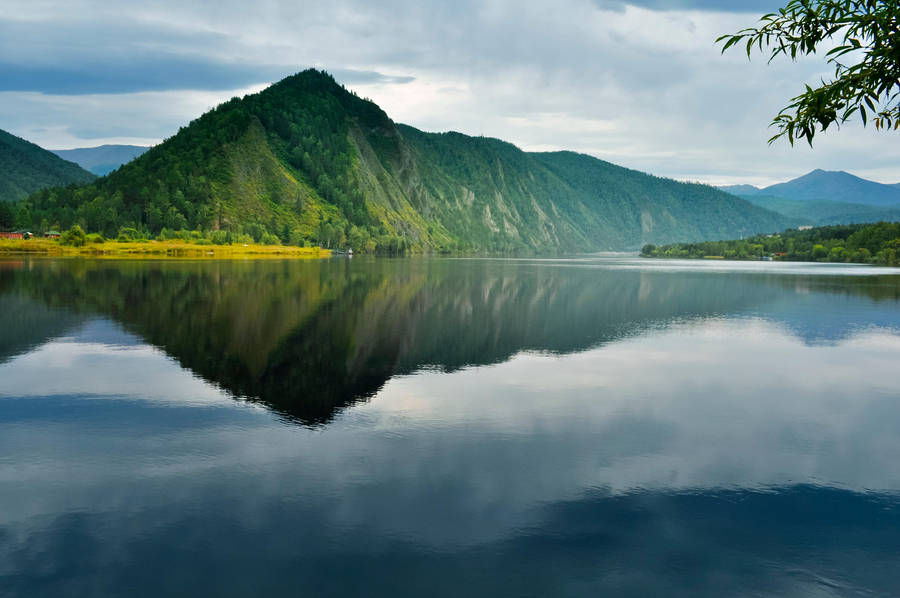 Mountain reflected in the water by Korolevatumana