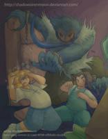 Art Trade- Inner Demons by shadowsirenmoon