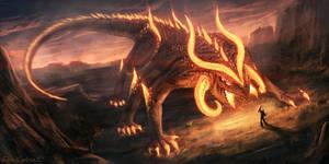 Fire Colossus: Pyrius by DeivCalviz
