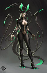 Akantha - Goddess of the Underworld by DeivCalviz
