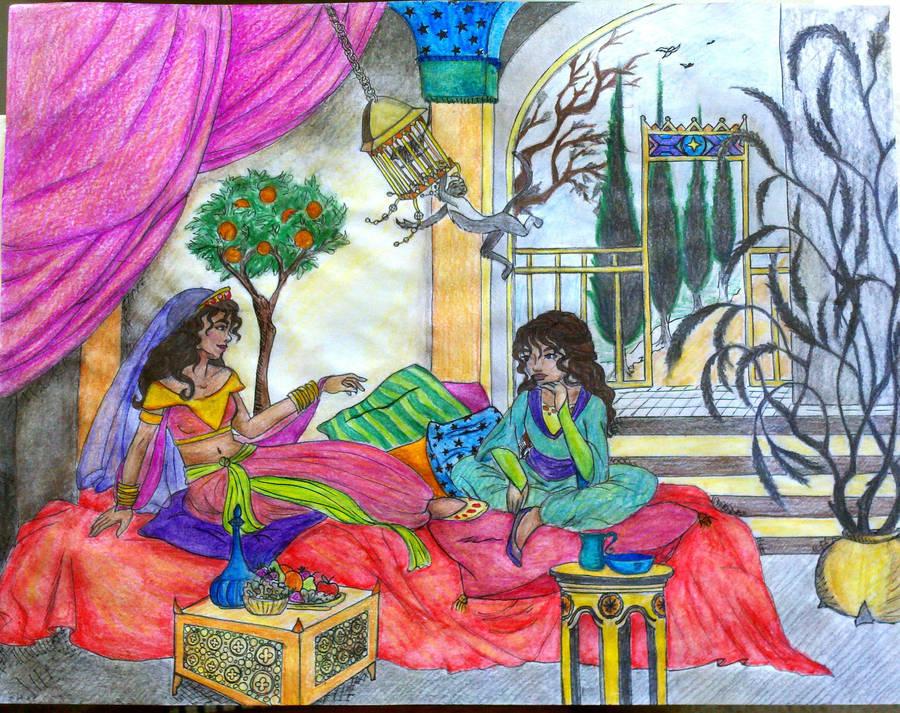 Aravis in Tashbaan by fyreflye26