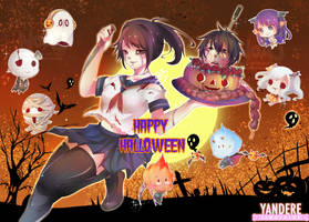 Happy Halloween Yandere Simulator and Undertale by eisjon