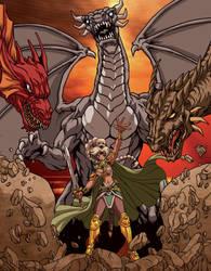 Fantasy Dragon Queen by Dogsupreme