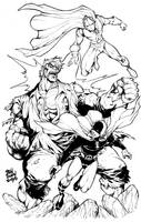 Hourman Dr.Fate vs Grundy by Dogsupreme