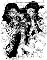 Harry Potter trio commission by Dogsupreme
