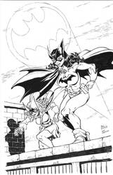Batwoman and Batgirl by Dogsupreme