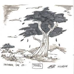 Inktober 2018: Day 23 - Trees by Loreto-Arts