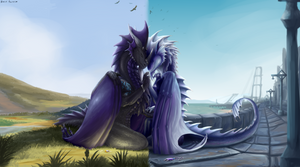 Distance by GoldenDraco
