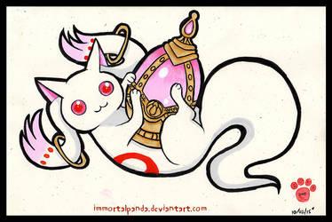 Inktober day 2- Kyubey! by ImmortalPanda