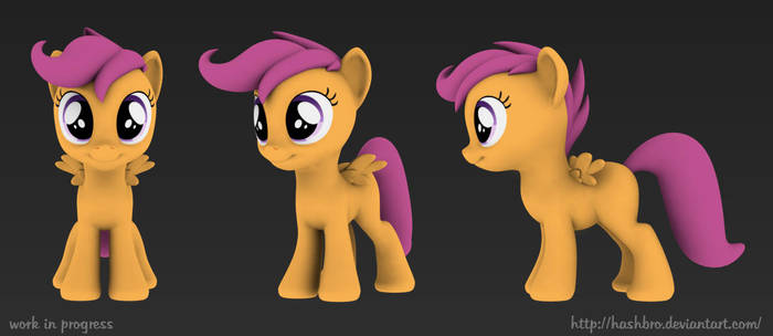 Scootaloo wip 01 by Hashbro