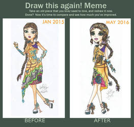 Before and After Meme: EAH OC Diamanty Crysos Gold by Haneeys1nsyeerah
