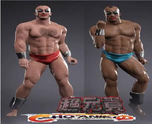 Cho-Aniki WWE2K17 by triplestar100