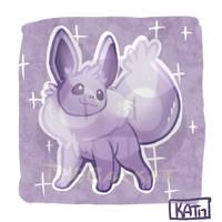 Shiny Eevee by chuchu-jelly