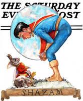 Hoppy the Marvel Bunny and Captain Marvel Jr. by crossstreet