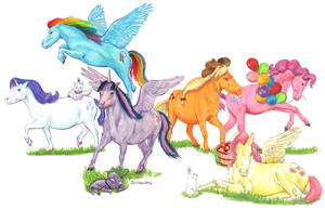 Little Ponies by crossstreet