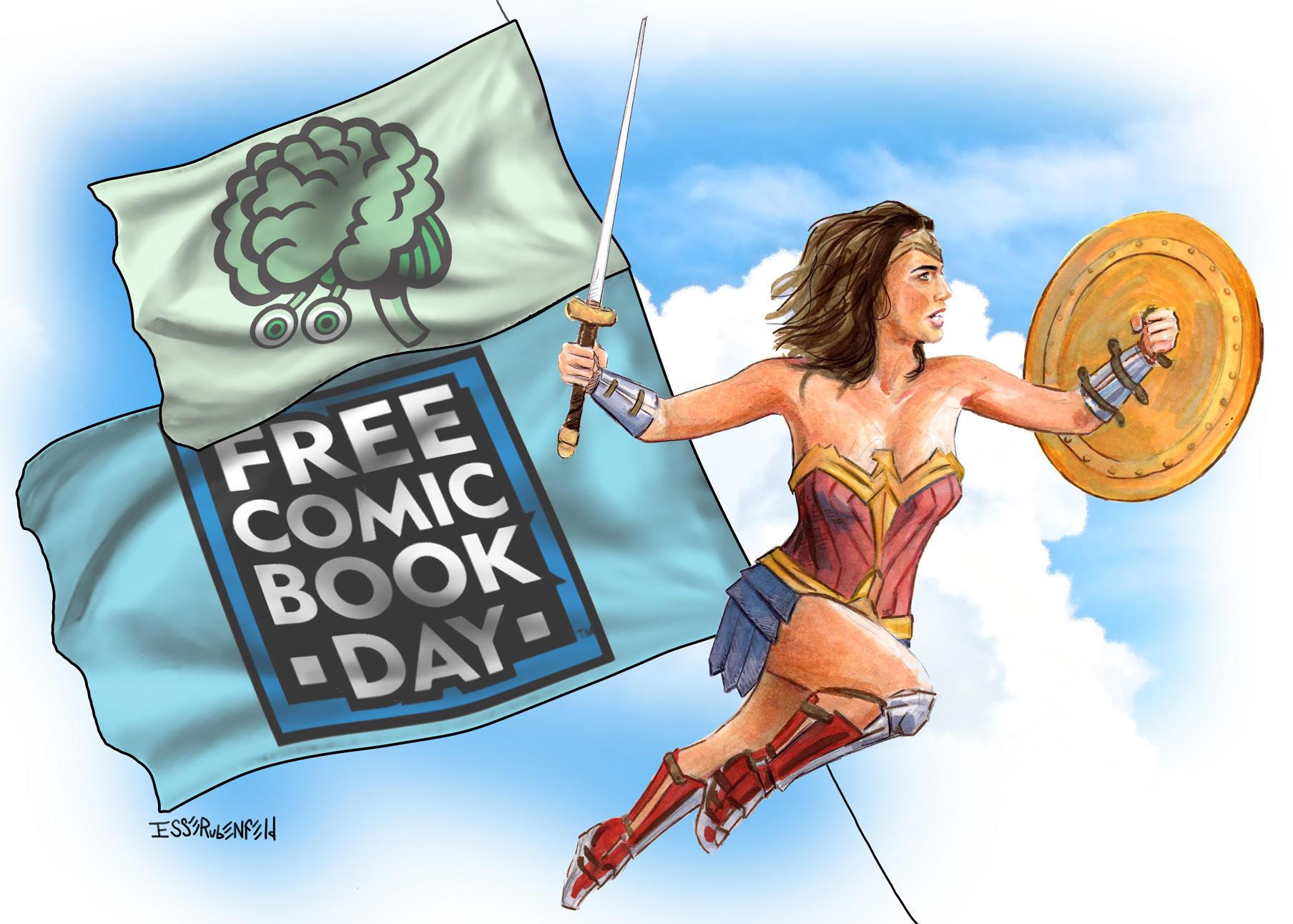 Free Comic Day 2017 Promo for Green Brain Comics by crossstreet