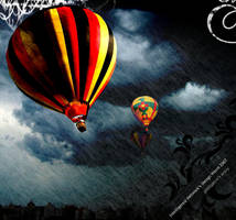 Balloons in storm by phillipecw