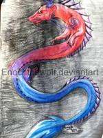 rainbow serpant by DeadSoulWolf