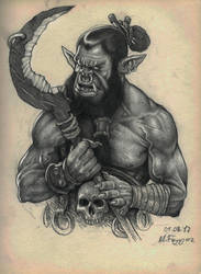 Orc Character Design by MuhammedFeyyaz