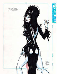 Tribute sketch: ELVIRA Mistress of Darkness by Darry