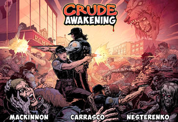 CRUDE AWAKENING - Double-spread action by Darry