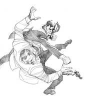James Bond in action by Darry