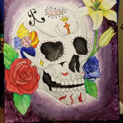 Dia de la muerte painting by shealpha1