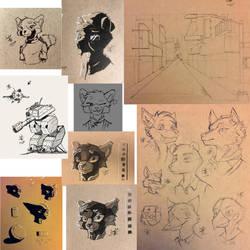 Sketchdump 1 by ASomberFox
