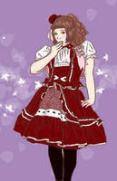 lolita red by honey-cookie-flash