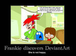 Frankie's unpleasant discovery by Cassini90125