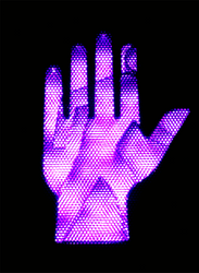 The violet hand of Don't Walk by Cassini90125
