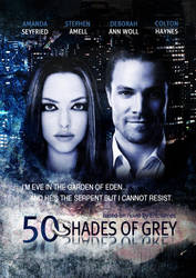 50 shades of grey movie poster by Azarela90