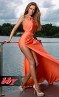 Summer orange dress . by BiancaDragusanu