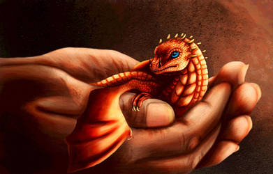 Dragon Hatchling by FelonDog